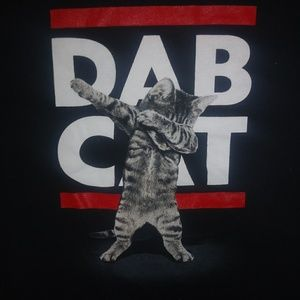 Gildan Shirts & Tops - DAB CAT Black T-shirt Sz XL (18-20)